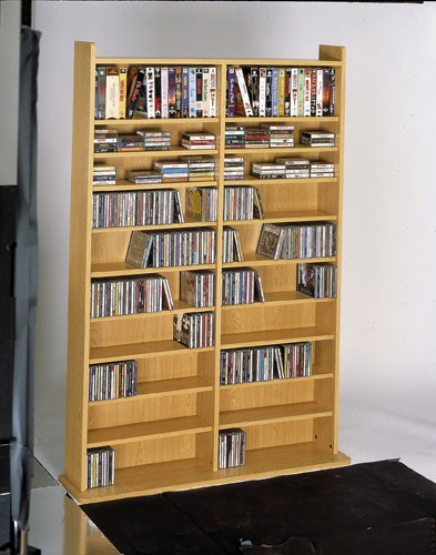 CD-1000 Multimedia storage rack-Oak