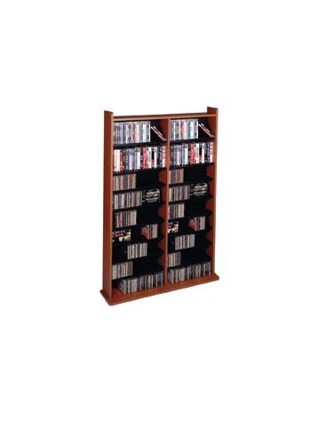 CD-1000C Multimedia storage rack-Cherry with black shelves