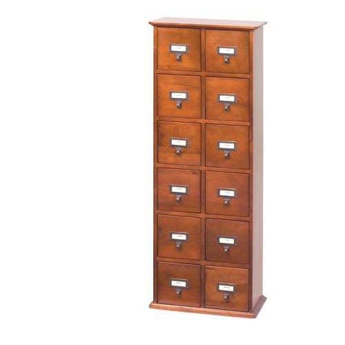 CD-144WAL (Library style CD cabinet- Walnut)