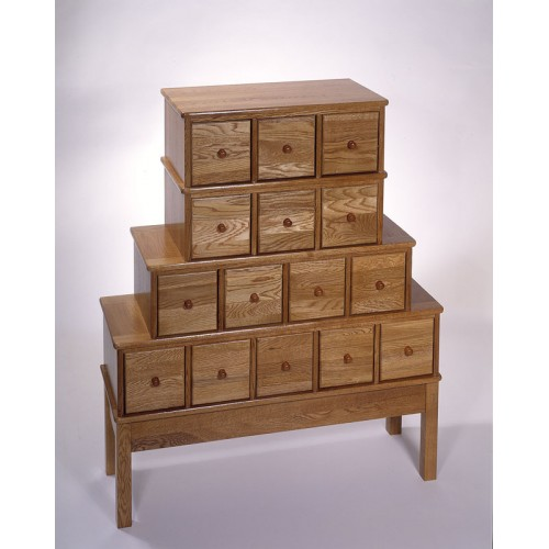 CD-375 (Solid Oak Apothecary - Oak)