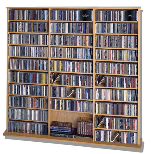 CDV-1500WAL Mutimedia storage rack- Walnut