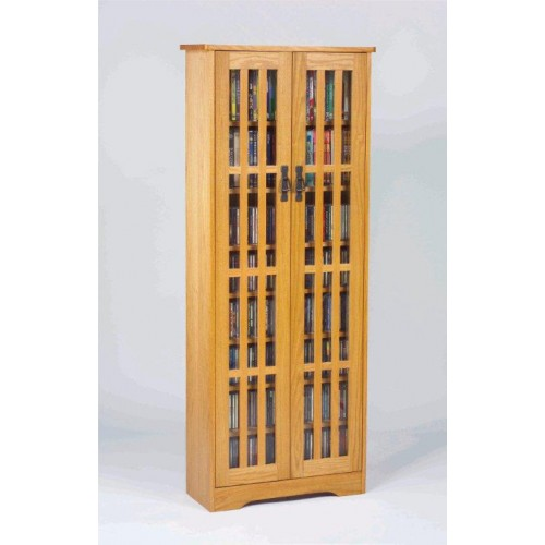 M-477 (Inlaid Glass Door Mission Cabinet Oak)